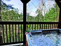 HOT TUB at ASLEEP BY THE CREEK in Sevier County TN