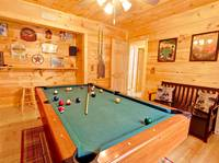 POOL TABLE at OVER THE HILL in Sevier County TN
