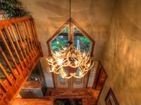 ANTLER CHANDELIER at IT'S A WONDERFUL LIFE in Sevier County TN