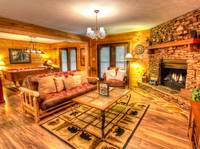 LIVING AREA at MOUNTAIN HOPE in Pigeon Forge TN