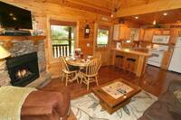 LIVING AREA at BEAR TOP HIDEAWAY in Pigeon Forge TN