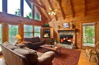 LIVING AREA at HEMLOCK HIDEAWAY in Sevier County TN