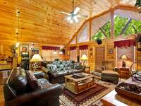 LIVING AREA at XGIDDY-UP INDOOR POOL in Sevier County TN