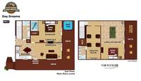 UNIT LAYOUT at DAYDREAMS in Sevier County TN