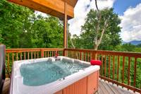 HOT TUB at MAJESTIC VIEW in Gatlinburg TN