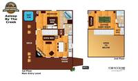 UNIT LAYOUT at ASLEEP BY THE CREEK in Sevier County TN