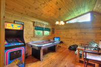 GAME ROOM (LOFT) at COVE CREEK LODGE in Pigeon Forge TN