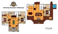 UNIT LAYOUT at AMAZING MTN HIDEAWAY in Sevier County TN