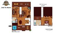 UNIT LAYOUT at X2nd to NONE in Pigeon Forge TN