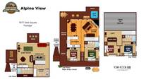 UNIT LAYOUT at ALPINE VIEW in Gatlinburg TN