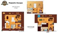 UNIT LAYOUT at MAJESTIC ESCAPE in Sevier County TN
