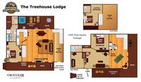 UNIT LAYOUT at THE TREEHOUSE LODGE in Pigeon Forge TN