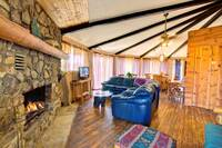 LIVING AREA at XXELK HORN LODGE in Gatlinburg TN