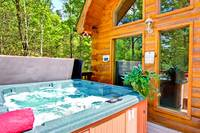 HOT TUB at MOUNTAIN TREASURE in Sevier County TN