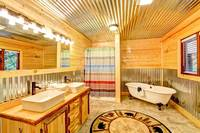 BATHROOM (BEDROOM 2/MAIN LEVEL) at ALL-AMERICAN in Gatlinburg TN