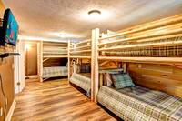 BEDROOM 5 (3 SETS OF TWIN BUNK BEDS/UPSTAIRS) at ALL-AMERICAN in Gatlinburg TN