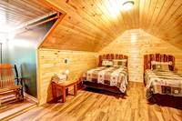 BEDROOM 6 (1 QUEEN & 1 TWIN/UPSTAIRS) at ALL-AMERICAN in Gatlinburg TN