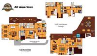UNIT LAYOUT at ALL-AMERICAN in Gatlinburg TN