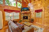LIVING AREA at ALMOST PARADISE in Sevier County TN