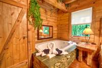 JACUZZI (IN BEDROOM) at AS GOOD AS IT GETS in Sevier County TN
