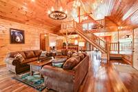 LIVING AREA at BIG BEAR LODGE in Sevier County TN