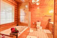 BATHROOM at BIG BEAR LODGE in Sevier County TN