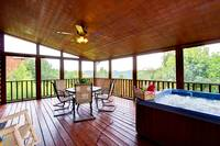 SCREENED DECK at BIG BEAR LODGE in Sevier County TN