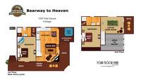 UNIT LAYOUT at BEARWAY TO HEAVEN in Sevier County TN