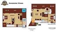 UNIT LAYOUT at AWESOME VIEWS in Gatlinburg TN