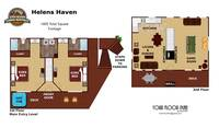 UNIT LAYOUT at XHELENS HAVEN in Sevier County TN