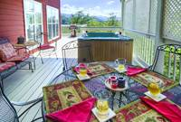 OUTDOOR DINING at XHOLIDAY HOUSE in Gatlinburg TN