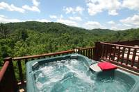 HOT TUB VIEW (SUMMER) at SUITE ALTITUDE in Sevier County TN