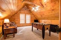 GAME ROOM (LOFT) at BIG BEAR LODGE in Sevier County TN