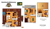 UNIT LAYOUT at HEMLOCK HIDEAWAY in Sevier County TN