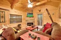 LIVING AREA at A MARY CABIN in Sevier County TN