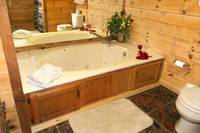 BATHROOM 1 (JACUZZI TUB)  at LAZY DAZE in Sevier County TN