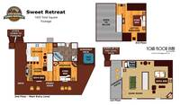 UNIT LAYOUT at SWEET RETREAT in Sevier County TN