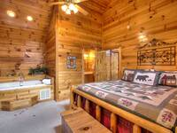 BEDROOM at A HIBERNATION STATION in Pigeon Forge TN