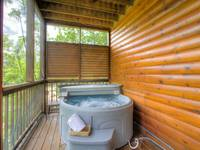 HOT TUB - 2nd LEVEL BACK DECK (SCREENED)
