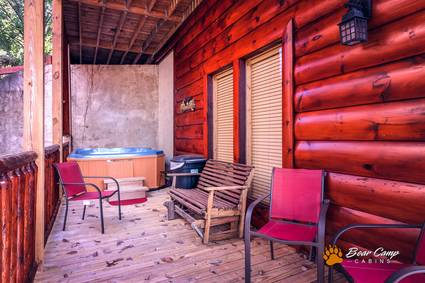 Bear Creek Falls Retreat - Bear Camp Cabin Rentals.