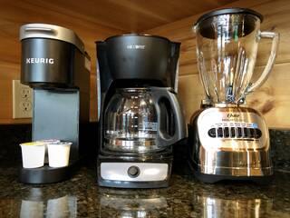 Keurig, drip coffee maker, Oster blender