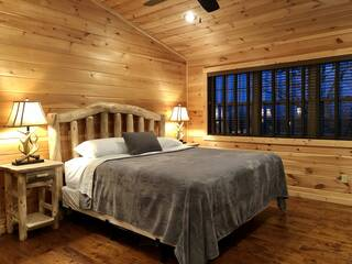 King bedroom in loft