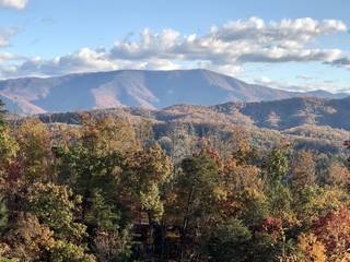View from deck out toward Cove Mountain and others