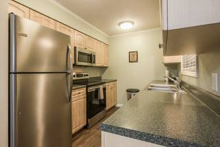 New stainless steel appliances: refrigerator, stove, microwave