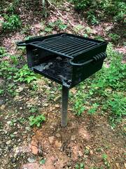 Park model charcoal grill