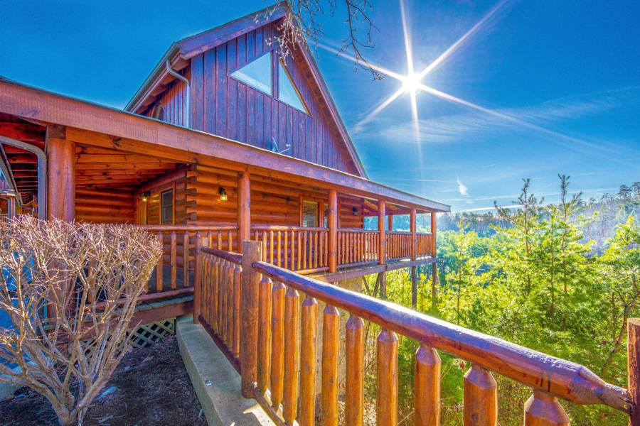 log rental residence pigeon bedroom luxury vacation cabins mountain forge tennessee in dreamer family usa cabin