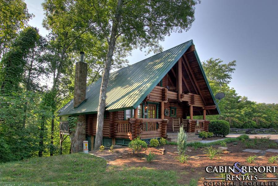 A frame of heart smoky mountain dreams cabin resort for Modified a frame house plans