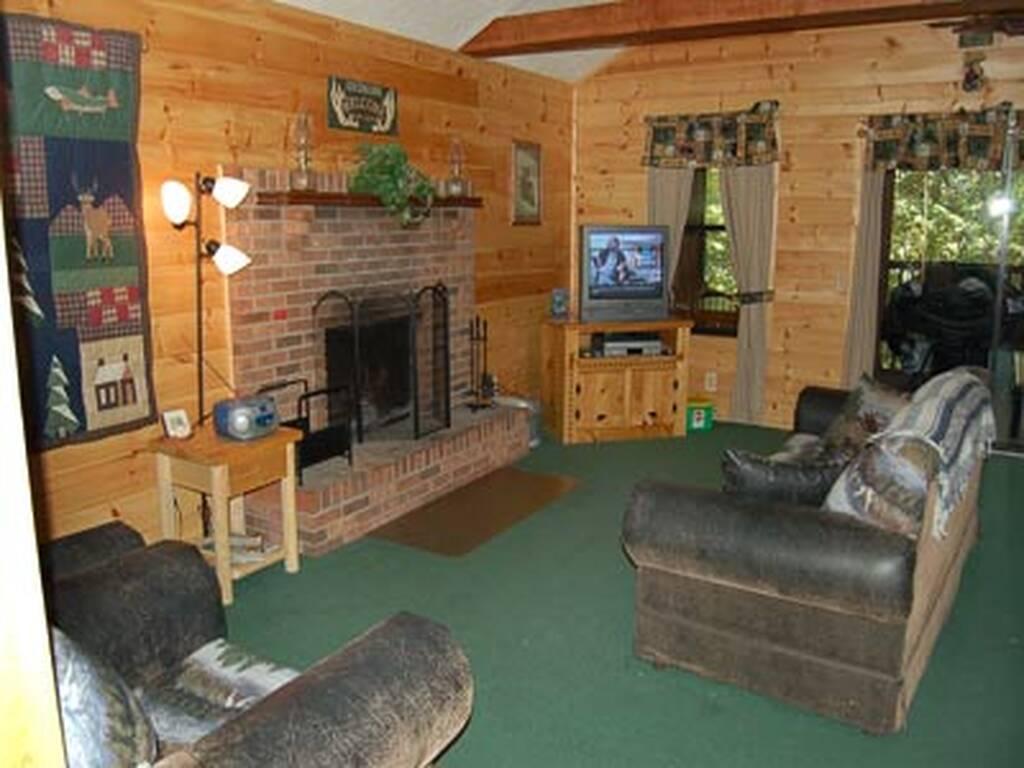 Living Room w/Fireplace and Sleeper