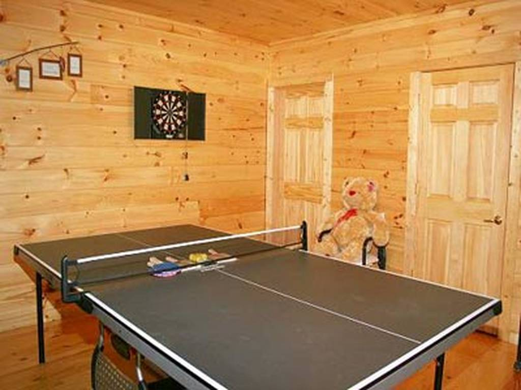 Ping Pong Table and Dart Board
