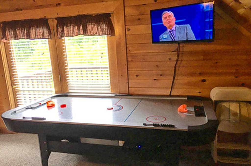 Loft with Air Hockey and TV